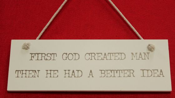 Funny Wooden 'Better Idea ..' Hanging Wall hanging Plaque,,shabby chic SALE